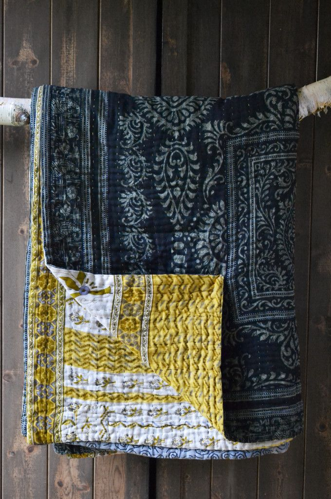 KANTHA BEDSPREAD 1 by Rina  Just beautiful - made from vintage saris and lovingly sewn by trafficked women rebuilding their lives in Bangladesh. Only at Decorator's Notebook (UK)