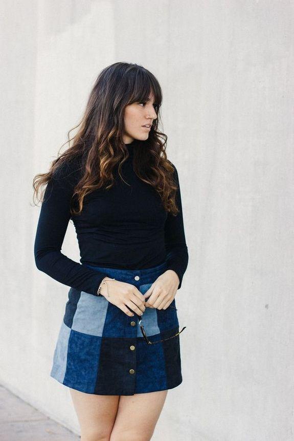 50+ tenues simples de jean en jean: manières modernes de coiffer une jupe en j …  – Recyclage jeans