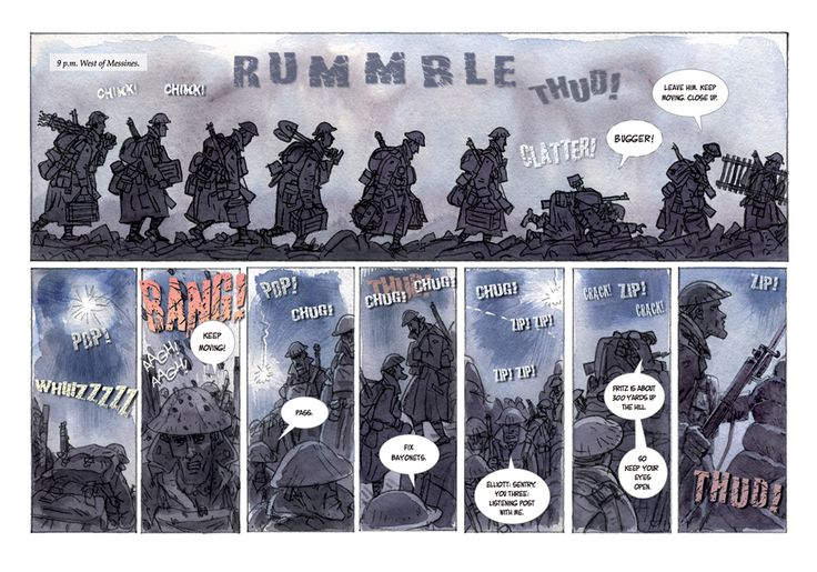 Slane comic page from Nice Day For A War