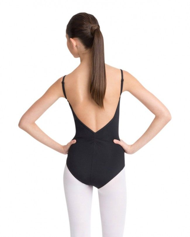 Adjustable Camisole Leotard by Capezio-Camisole leotard with V front  neckline with pleated pinch and moderately low V-back neckline with pleated  pinch.