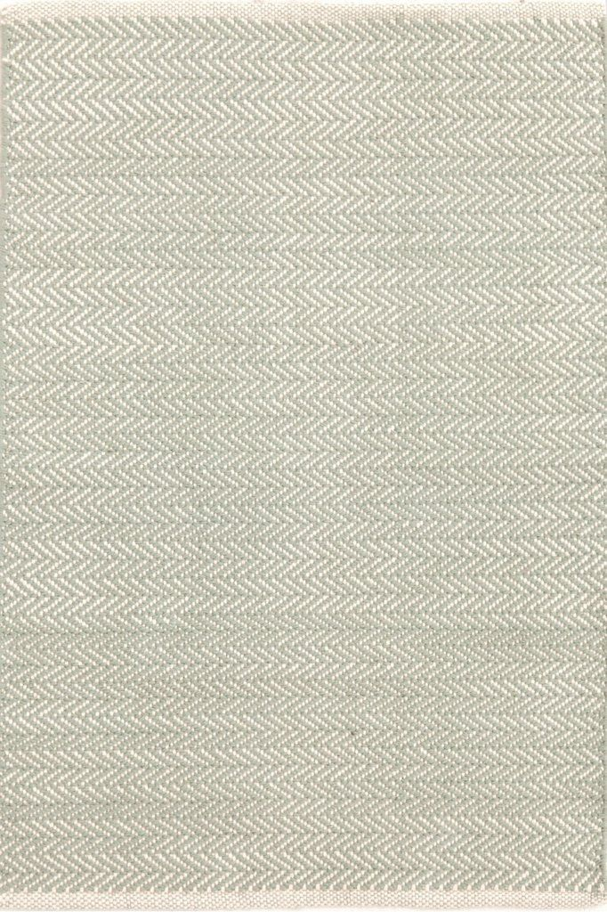Herringbone Cotton Rug Ocean