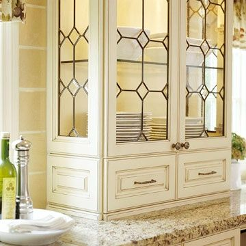 leaded glass kitchen cabinet doors love the leaded glass in the doors and the cream