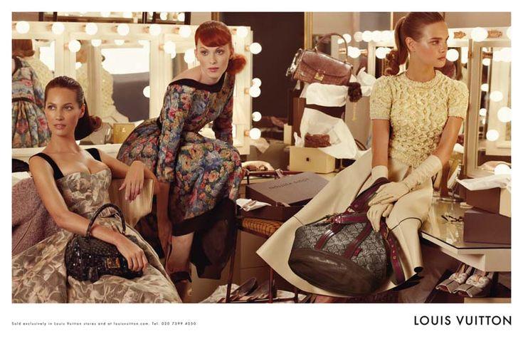 Christy Turlington, Natalia Vodianova, & Karen Elson for Louis Vuitton Fall 2010 campaign. Photographed by Steven Meisel.
