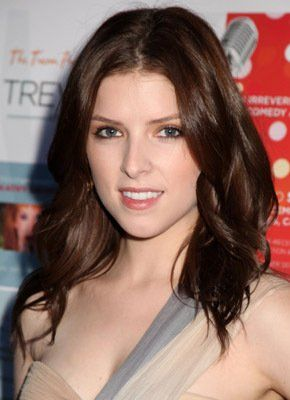 Anna Kendrick. Love that auburn color hair and classy makeup.