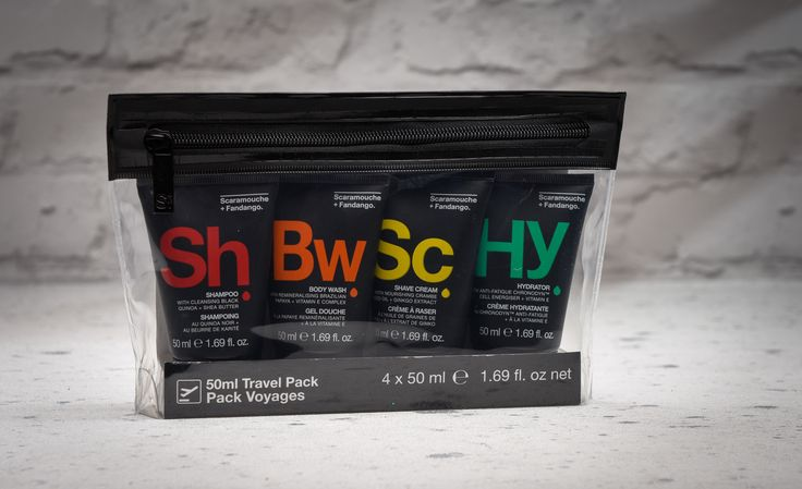 Whether you're planning a weekend break in Barcelona or heading to Edinburgh for business – don't go anywhere without the Scaramouche + Fandango body and skincare essentials. All you could need in travel friendly sizes packaged in a handy pouch.  https://carabellagifts.com/shop/mens-grooming-travel-pack/