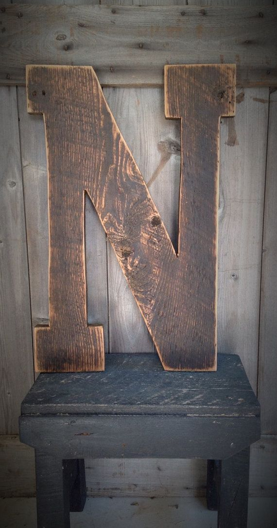 Barn Wood Letters measuring 24 inches by SimplymadesignsbyB