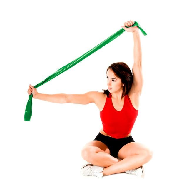 Faixa Elástica para Exercícios Verde - Média - Muscle Shop