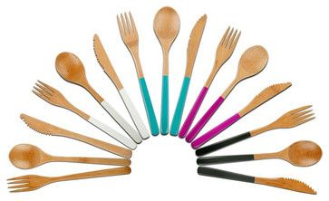 Bamboo Wood Cutlery contemporary-specialty-kitchen-tools