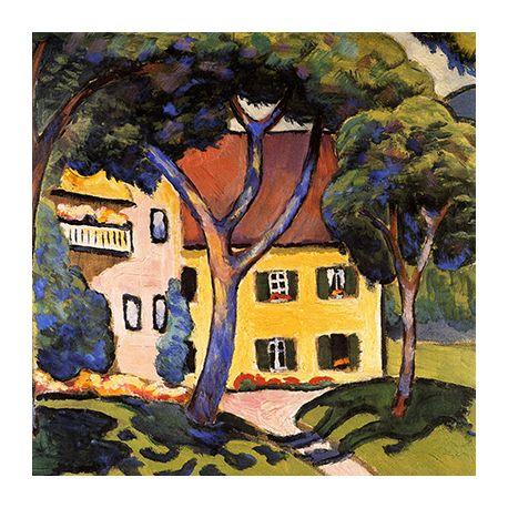 House in a landscape - reprodukcje na płótnie - Fedkolor