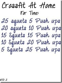 6 crossfit workouts..