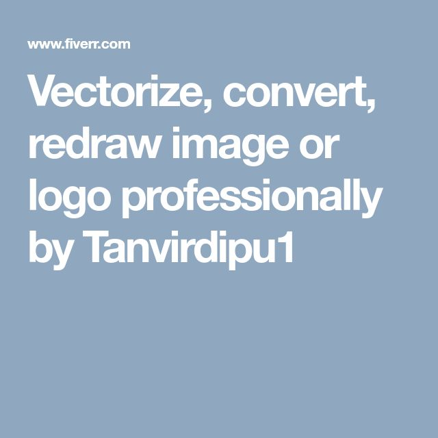 Vectorize, convert,  redraw image or logo professionally by Tanvirdipu1