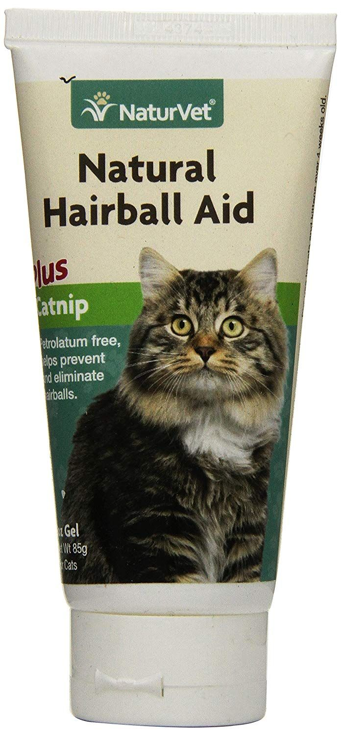 NaturVet Natural Hairball Aid Plus Catnip Gel for Cats, 3