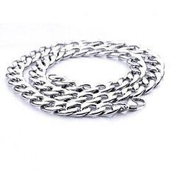z&catena collana uomini X® acciaio larghezza 1,1 centimetri di titanio di stile europeo di