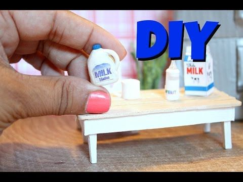 DIY Miniature Milk - YouTube