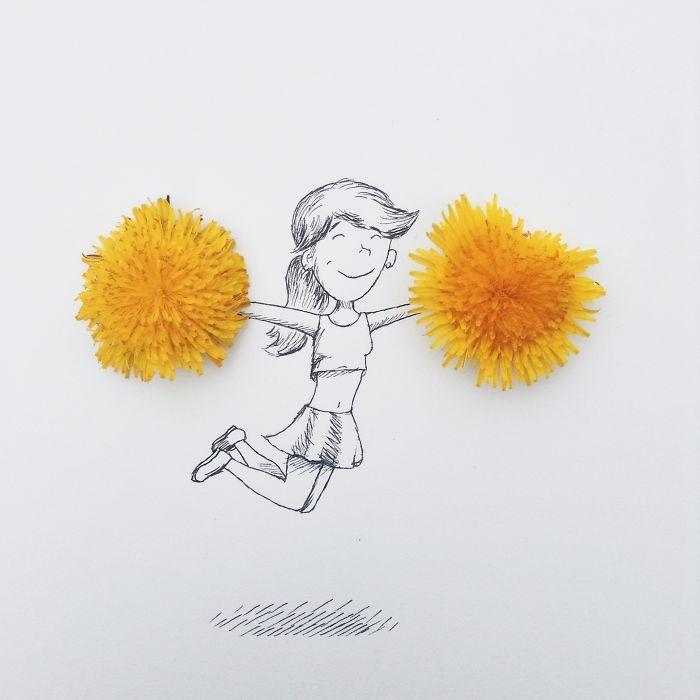 Ce jeune artiste utilise des objets du quotidien pour créer des dessins hyper-créatifs