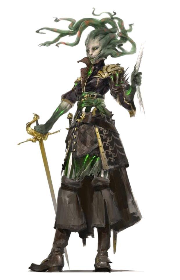 Medusa Swashbuckler - Pathfinder PFRPG DND D&D 3.5 5th ed d20 fantasy