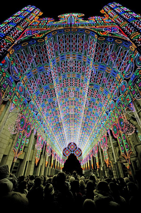 Luminarie Cagna–Cathedral Art Installation at the Ghent Light Festival in Belgium