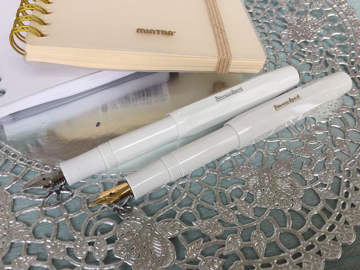 Kaweco white fountain pen