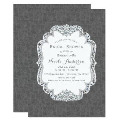 #bridal #shower #invitations - #Grey Western Boots & Vest Glam Bridal Shower Card
