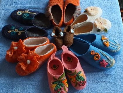 Felted Slippers by Louisa Rull FeltSoapGood