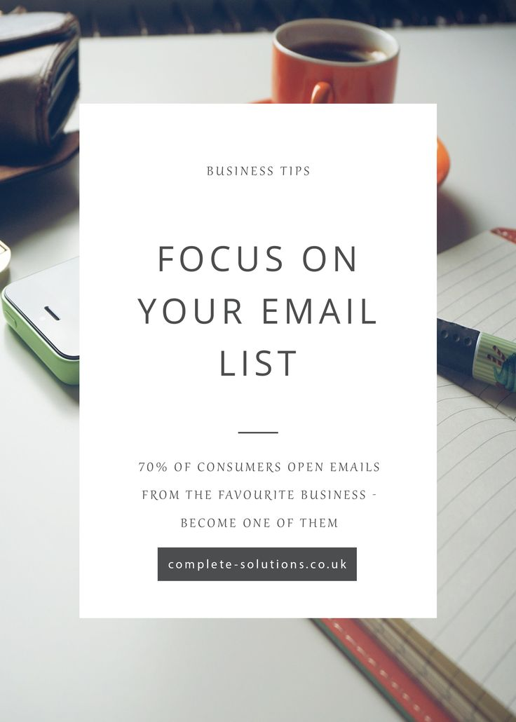 Our new blog Focus on your email list gives you the best tips for directing your marketing and growing your list of clients! http://www.complete-solutions.co.uk/focus-on-your-email-list/?utm_campaign=coschedule&utm_source=pinterest&utm_medium=Complete%20PA%20Solutions&utm_content=Focus%20on%20your%20email%20list