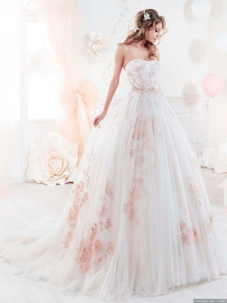 Un peu de douceur avec cette robe #robe #peche #mariage mariee #wedding #weddingdress #couleur #mariagesnet #fashion #bride