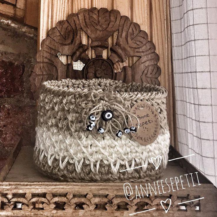 En tatlı sepetler #örgü #örgüsepet #hasır