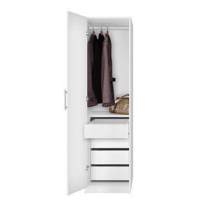 Alta+Super+Space+Saver+-+Narrow+Wardrobe,+Left+Door,+4+Interior+Drawers