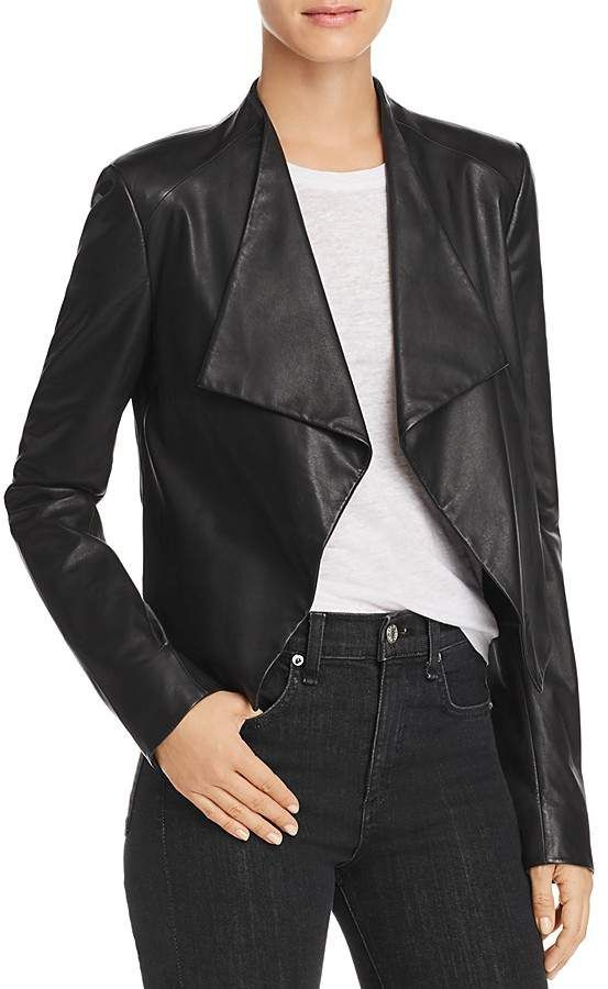 ab9b51113 Theory Draped Leather Jacket | Products | Leather jackets online ...