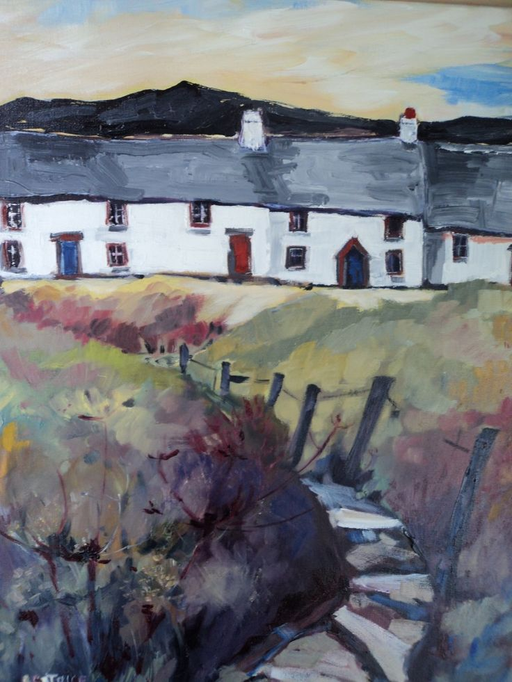 Cottage paintings by a Welsh artist, Beatrice Williams | Art by Beats  |  It's mine all mine!  Yay!  http://ladybizbiz.com   :o)  (For too long I have wanted to be able to gaze on the beautiful art of Beatrice Williams, my former art teacher, now I can).