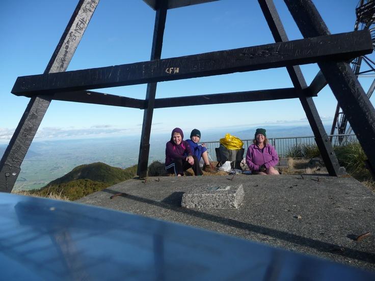 We made it - the top of Mt Te Aroha