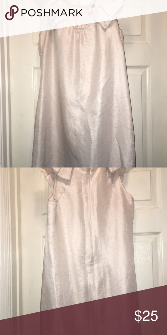 Summer dress JCREW...Champagne Colored Dress...sleeveless...hits right above knee;82% linen and 18% silk J.Crew Factory Dresses