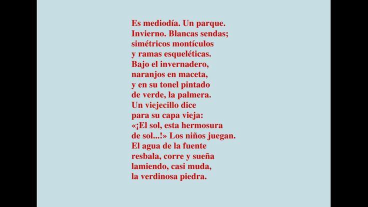 """Primera etapa: Modernismo Simbolista. Antonio Machado publica """"Sol de Invierno"""" en 1907 perteneciente a su obra """"Soledades, galerías y otros poemas"""".  Hemos escogido esta obra porque en ella destacan símbolos usados por Machado como la tarde y el agua. Nos ha gustado especialmente las descripciones que utiliza."""
