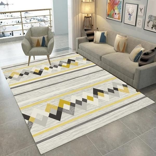 Modern Nordic Memory Foam Rug Warmly Home Decor Decor