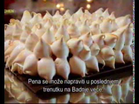 Chef Loraine Pascale - Christmas winter wonderland traybake with meringue work video/ in English with subtitles.