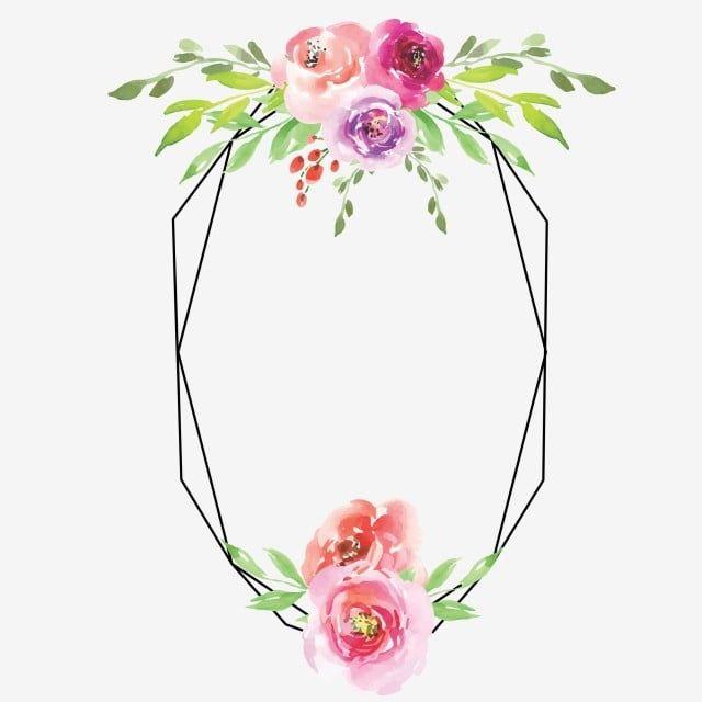 برواز الوردة مائية النمط زهور الوردة Wattercolor Png والمتجهات للتحميل مجانا Purple Flower Background Watercolor Rose Flower Backgrounds
