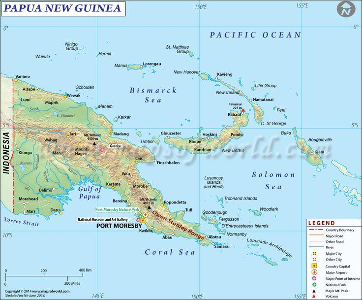 Mapa de #PapúaNuevaGuinea