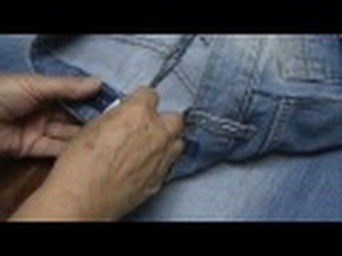 Vídeo-aula aprenda diminuir o tamanho da calça jeans parte 11