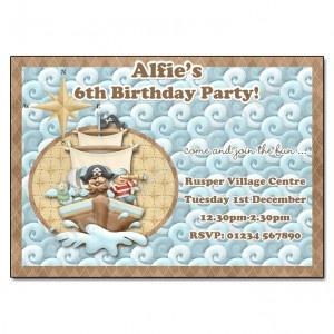Pirates - Land Ahoy! Party Invitation | Party Invite UK