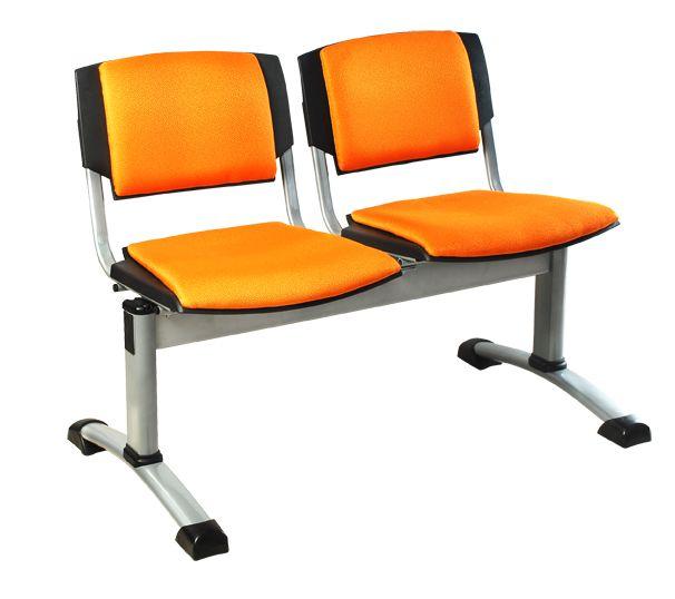 Tandem de 2 Puestos espaldar y asiento tapizado.