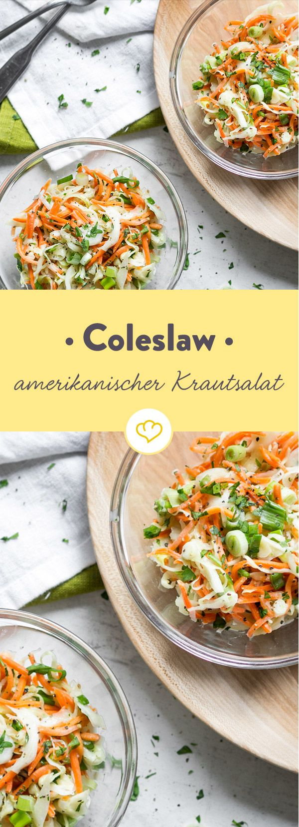 Der Krautsalat ganz amerikanisch: Mit knackigem Kohl und cremigem, würzigem Dressing ist Coleslaw der ideale Begleiter zu saftigen Burgern.