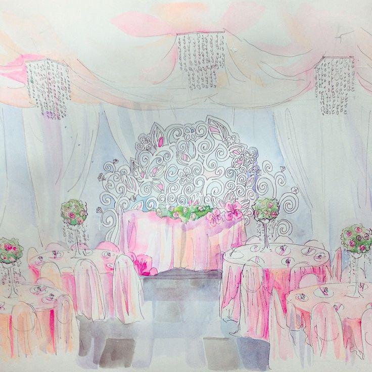 Эскиз оформления свадьбы.