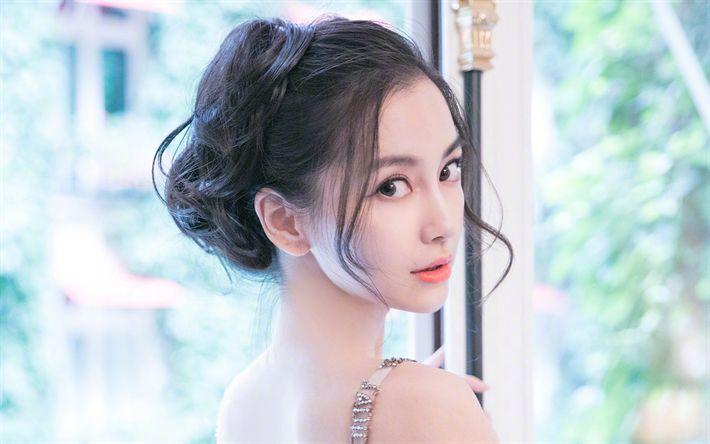 Scarica sfondi Angela Yeung Wing, ragazze asiatiche, cinesi, modelli, bellezza, brunetta, Angelababy