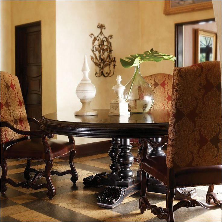 Lowest Price Online On All Stanley Furniture Costa Del Sol Andalusian Dining Table In Artisan