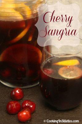 Cherry Sangria to end #BrunchWeek  http://cookinginstilettos.com/cherry-sangria/