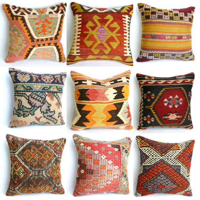 "For HIS SPACE:  Etsy Store: ""Yuner""  Turkish kilim,kilim pillows,ikat"