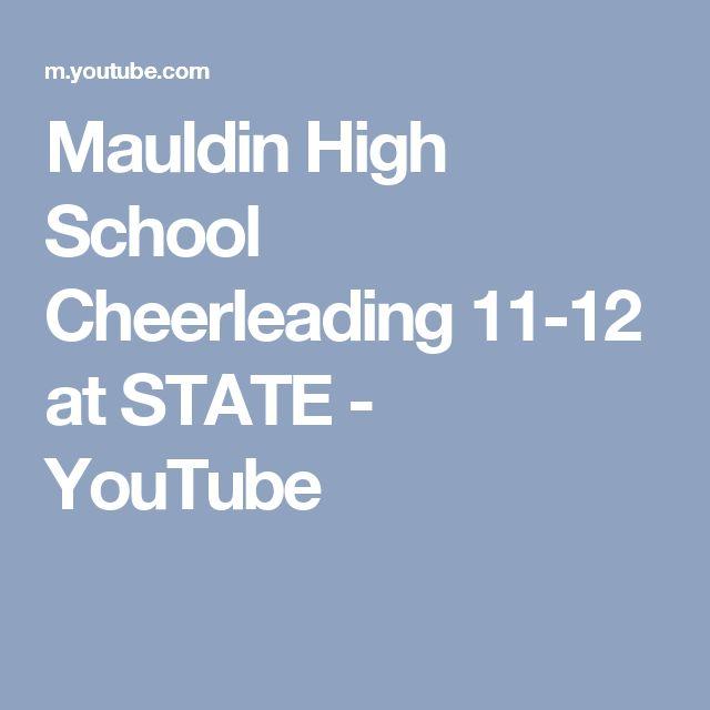 Mauldin High School Cheerleading 11-12 at STATE - YouTube
