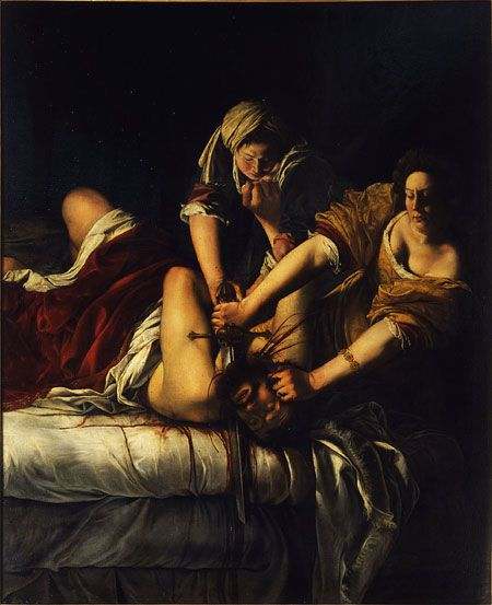 Artemisia Gentileschi, Judith and Holofernes, 1620-21, oil on canvas, 162.5 x 199 cm (Uffizi Gallery, Florence)