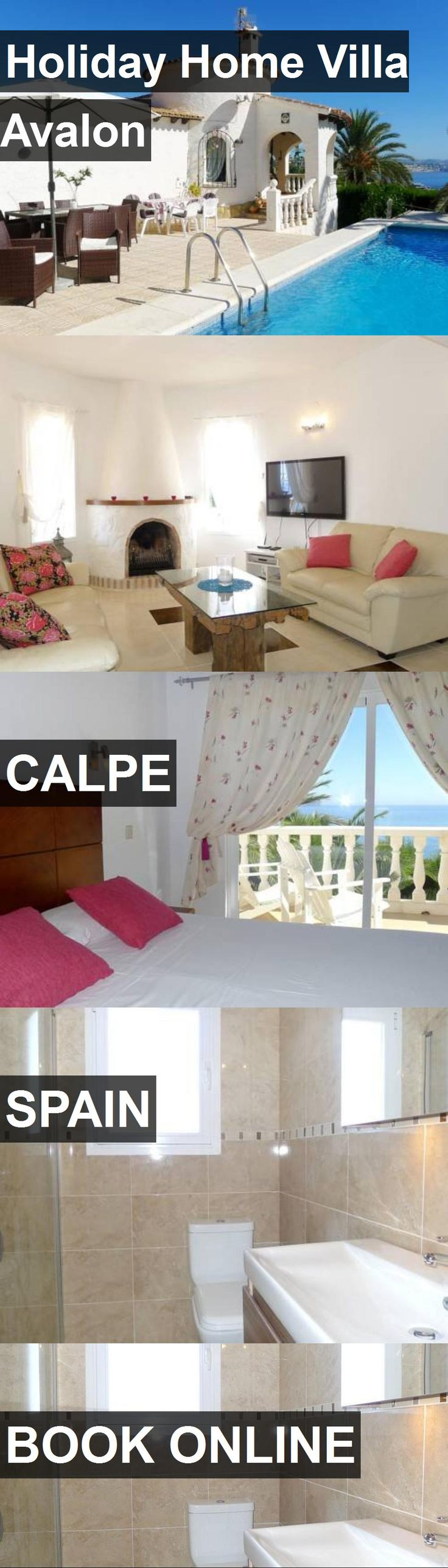 Hotel Holiday Home Villa Avalon in Calpe, Spain. For more information, photos, reviews and best prices please follow the link. #Spain #Calpe #travel #vacation #hotel