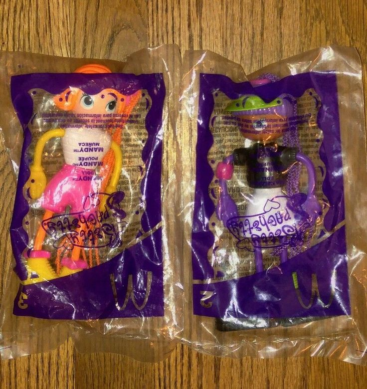 Pair of McDonalds Betty Spaghetty 2003 Toy Dolls Mandy and Hannah NEW #McDonalds